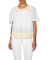 Antik Batik - Cotton Embroidered Wide Cuff Blouse - Lyst