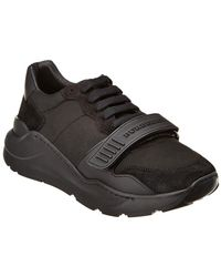 Burberry - Suede & Neoprene Sneaker - Lyst