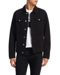 MSGM - Spread Collar Cotton Denim Jacket - Lyst