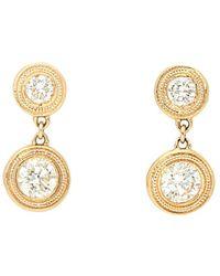 Nephora - 14k 0.77 Ct. Tw. Diamond Milgrain Drop Earrings - Lyst