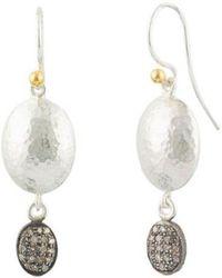 Gurhan - Spell 24k & Silver 0.20 Ct. Tw. Diamond Earrings - Lyst
