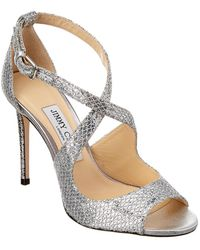 Jimmy Choo Emily 100 Glitter Sandal