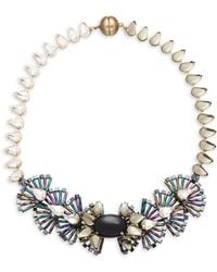 Tataborello - Crystal-studded Fan Necklace - Lyst