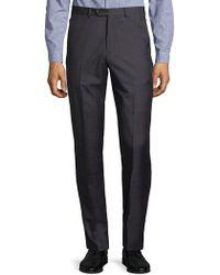 Armani | Melange Textured Trousers | Lyst