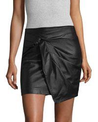 Ella Moss | Faux Leather Mini Skirt | Lyst