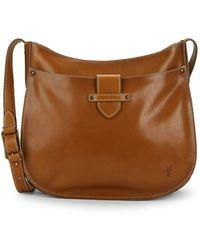 Frye - Olivia Large Leather Crossbody Bag - Lyst