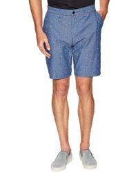 ourCaste - Fabian Cotton Flat Front Shorts - Lyst