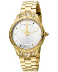 Just Cavalli - Animal Chantilly Stainless Steel Watch, 34mm - Lyst