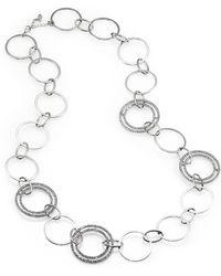 ABS By Allen Schwartz - Oversized Sparkle Chain Necklace - Lyst