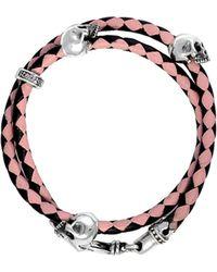 King Baby Studio - Silver Leather Bracelet - Lyst