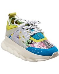 Versace Multicoloured Chain Reaction Leather Trainers
