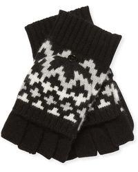 Sofia Cashmere - Fairisle Cashmere Pop Top Gloves - Lyst