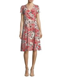 Ivanka Trump - Gallery Floral Fit-and-flare Dress - Lyst