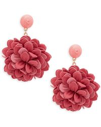 Natasha Couture - Floral Drop Earrings - Lyst