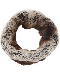 Badgley Mischka - Faux Chinchilla Double Face Neck Warmer - Lyst
