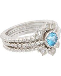 Judith Ripka - La Petite Silver 0.76 Ct. Tw. Gemstone Ring - Lyst