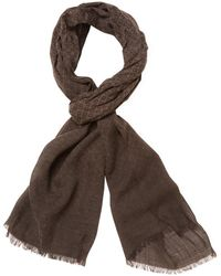 John Varvatos - Collection Printed Heather Wool Scarf - Lyst