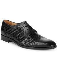Saks Fifth Avenue - Woven Captoe Dress Shoes - Lyst