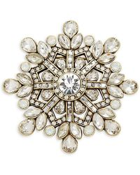 Heidi Daus - Snowflake Crystal Pin - Lyst
