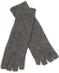 White + Warren - Cashmere Fingerless Long Shaker Glove - Lyst