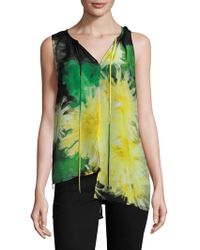 Tracy Reese - Silk Printed High Low Top - Lyst