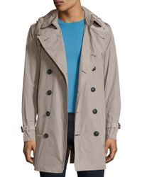 Burberry Brit - Delsworth Hooded Trench Coat - Lyst
