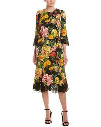 4d1052b7b7e7 Dolce & Gabbana Cherry Blossom Print Dress in Blue - Lyst