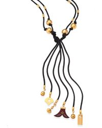 Chloé | Janis Beaded Tie Necklace | Lyst