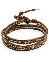 Chan Luu - Swarovski Crystal & Semi-precious Stone Wrap Bracelet - Lyst