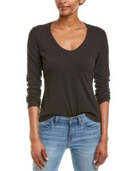 43401ae4559 James Perse Brushed Top in Black - Lyst