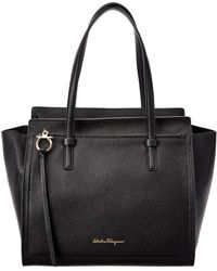 Ferragamo Amy Medium Leather Tote