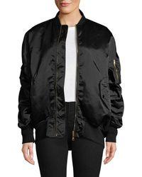 Balenciaga Oversized Bomber Jacket - Black