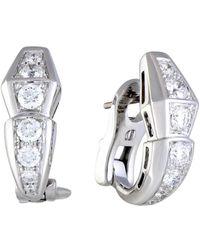 BVLGARI - Serpenti 18k 1.28 Ct. Tw. Diamond Earrings - Lyst