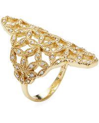 Mizuki - Woven Petal Ring - Lyst