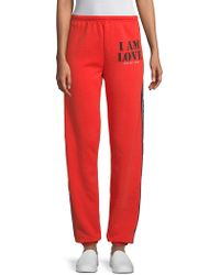 Peace Love World - Logo Jogger Trousers - Lyst