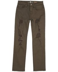 7 For All Mankind - 7 For All Mankind Slimmy Pant - Lyst