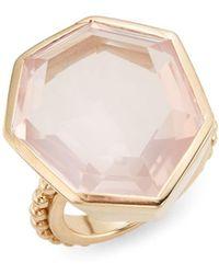 Stephen Dweck - Rose Quartz & Bronze Faceted Ring - Lyst