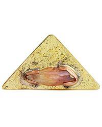 Saachi - Mystic Crystal Triangle Ring - Lyst
