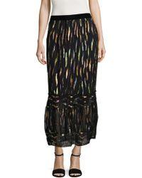 Anna Sui | Reigning Rainbow Midi Skirt | Lyst