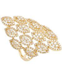 Vendoro - 18k Yellow Gold & 1.26 Total Ct. Diamond Shield Ring - Lyst