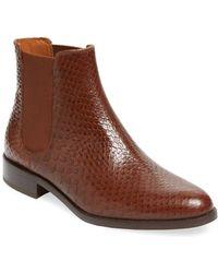 Aquatalia - Yulia Printed Leather Chelsea Boot - Lyst