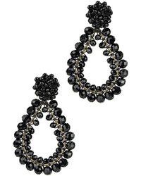 Saachi - Rajani Beaded 18k Plated Drop Earrings - Lyst