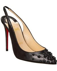 Christian Louboutin - Drama Sling 100 Leather Pump - Lyst