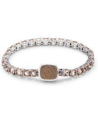Stephen Dweck - Smoky Quartz, Hydro Quartz & Sterling Silver Bracelet - Lyst