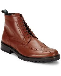 Bugatchi - Italian Leather Lace-up Boots - Lyst
