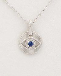 Judith Ripka - Lucky Silver Evil Eye Necklace - Lyst