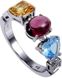BVLGARI 18k Diamond & Gemstone Ring - Multicolour