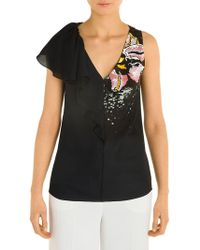 Emilio Pucci - Front Ruffle Top - Lyst