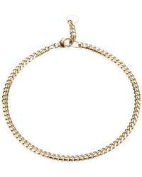Bianca Pratt - 14k Gold Cuban Link Bracelet - Lyst