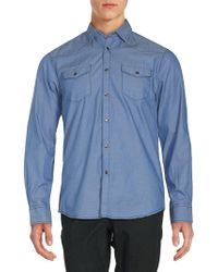 James Campbell - Long Sleeve Solid Button-down Shirt - Lyst